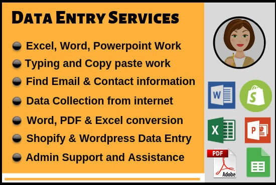 Virtual assistant for data entry,  data mining,  web research,  copy paste