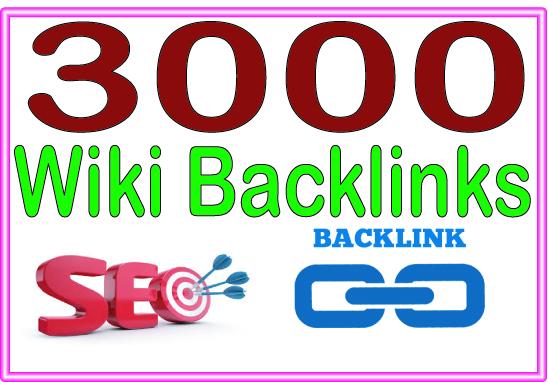 Do 3000 Wiki High-Quality PREMIUM Backlinks To Improvement Your Rank