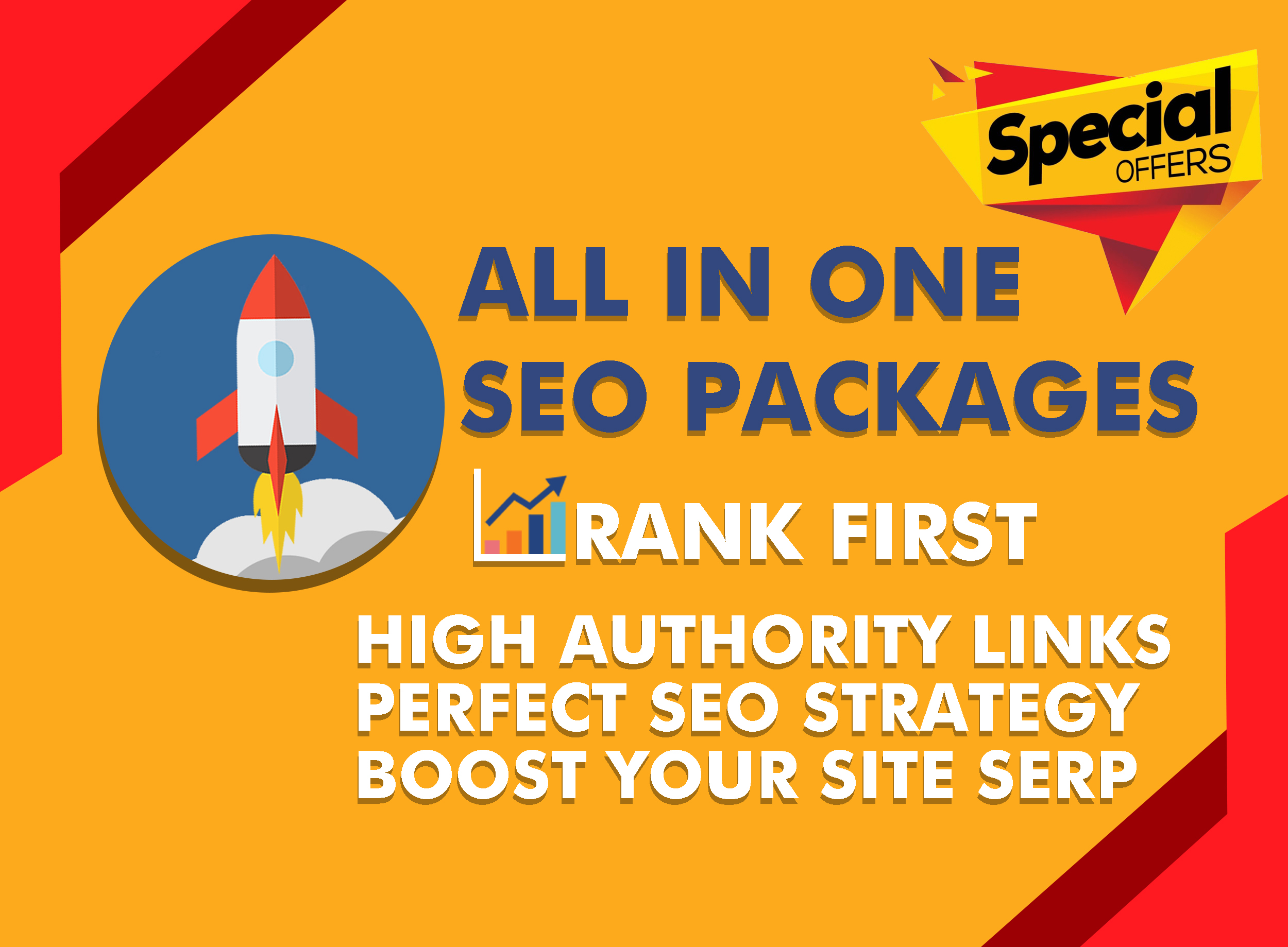 All In One SEO Package For Rank Your Website On First Page On Google With White Hat Linkbuilding
