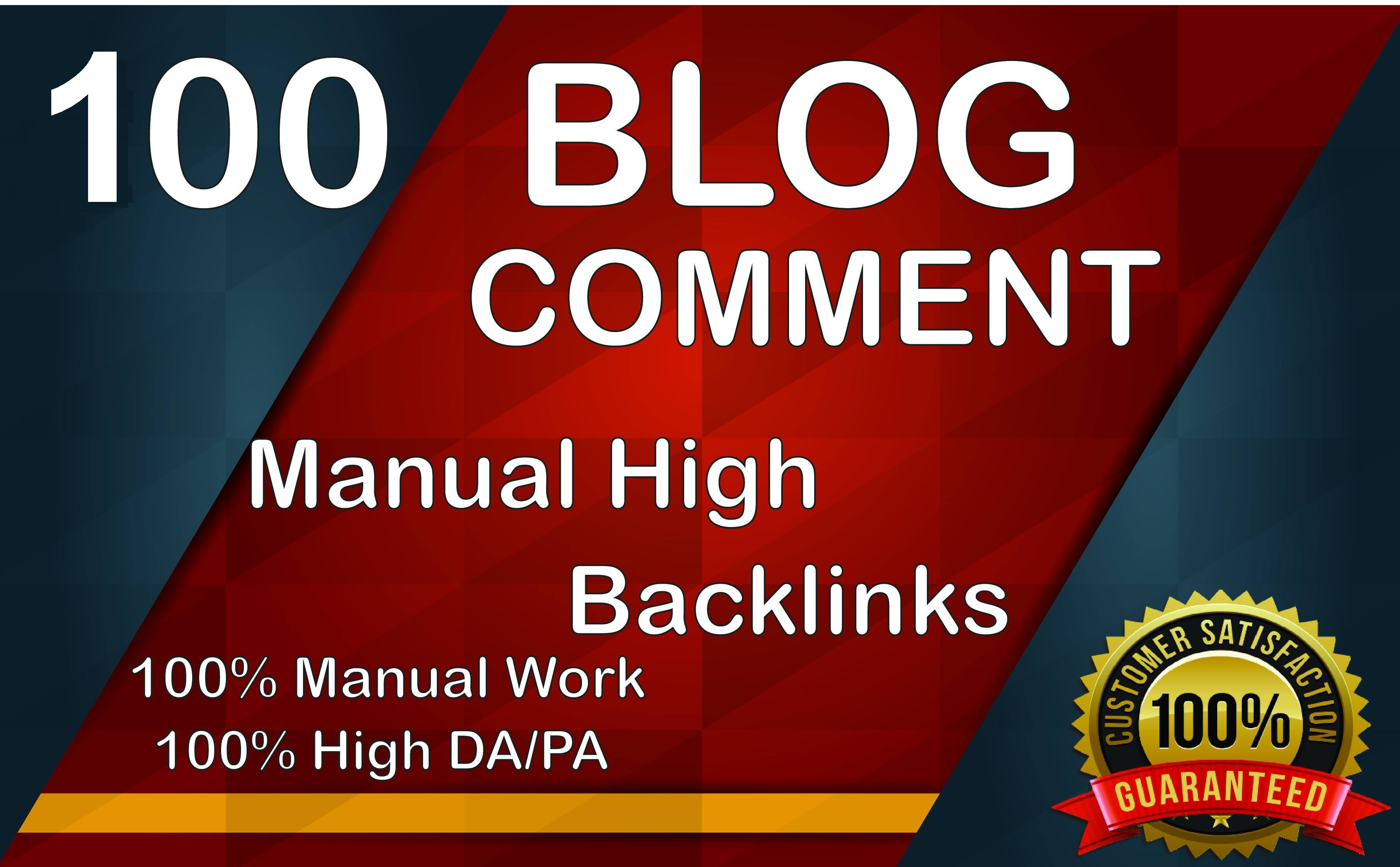 I will create 100 dofollow blog comments backlinks for boost website