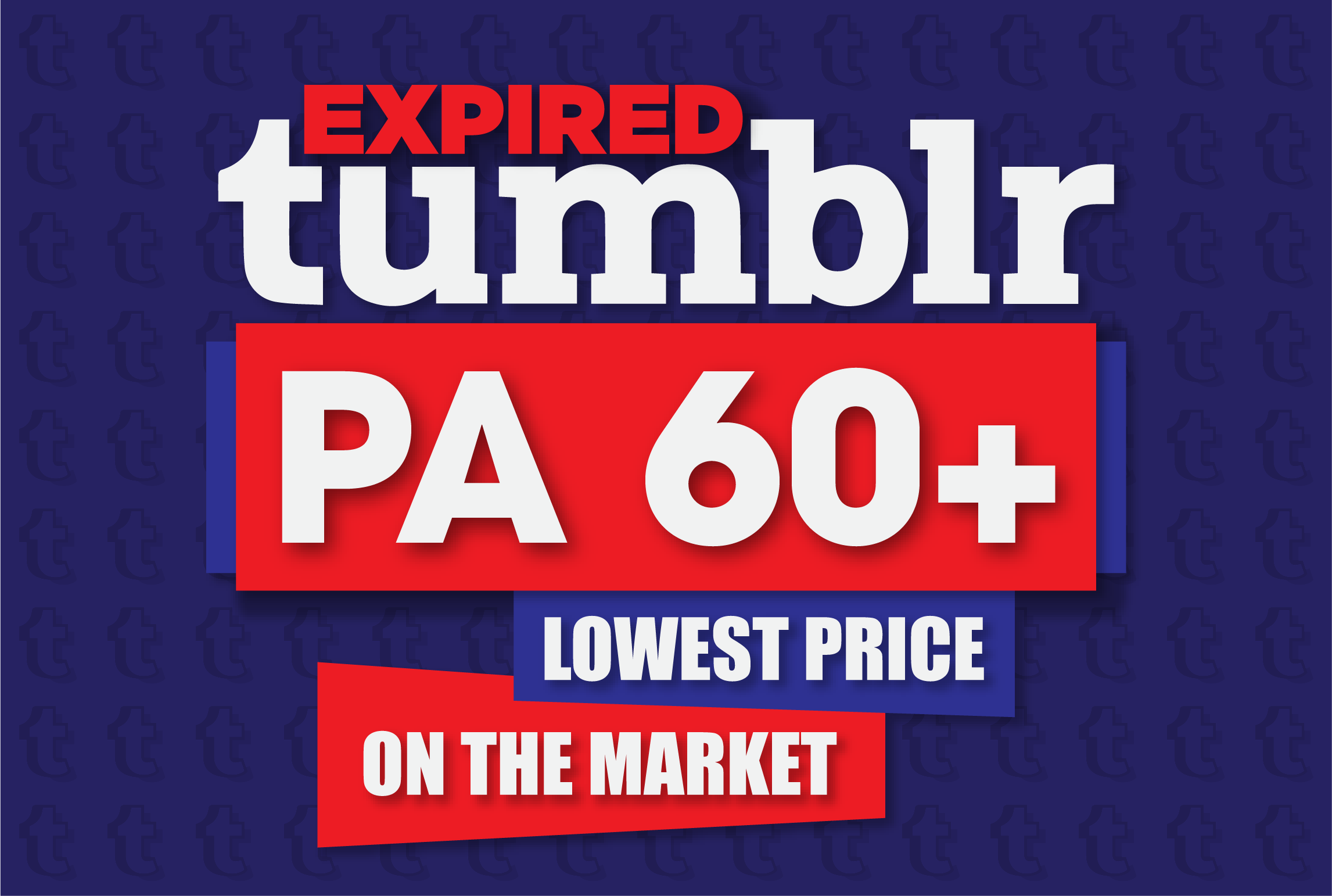 16 expired PA60+ Tumblr blogs with 1000+ backlinks