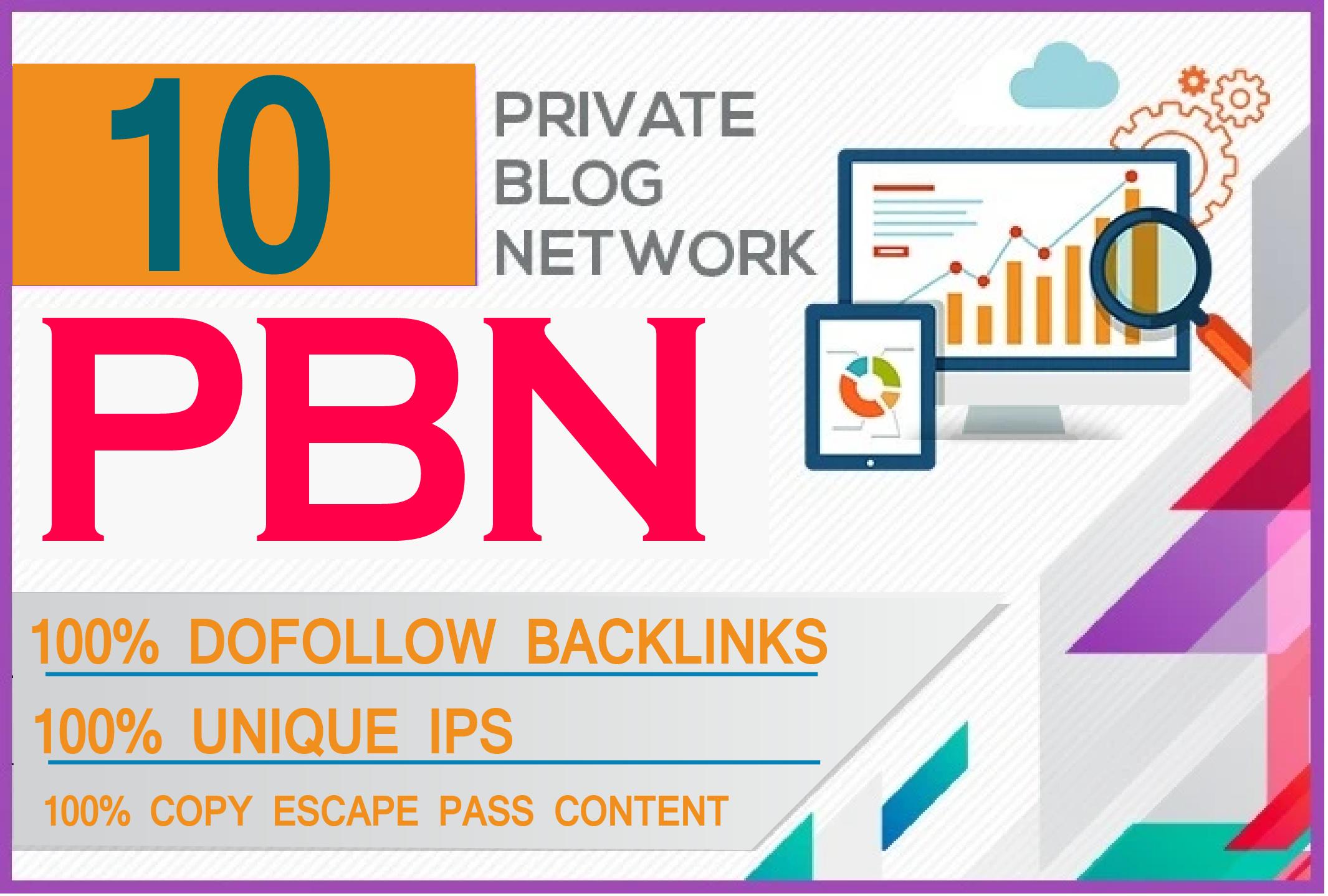 I will do 10 high metrics powerful homepage pbn backlinks