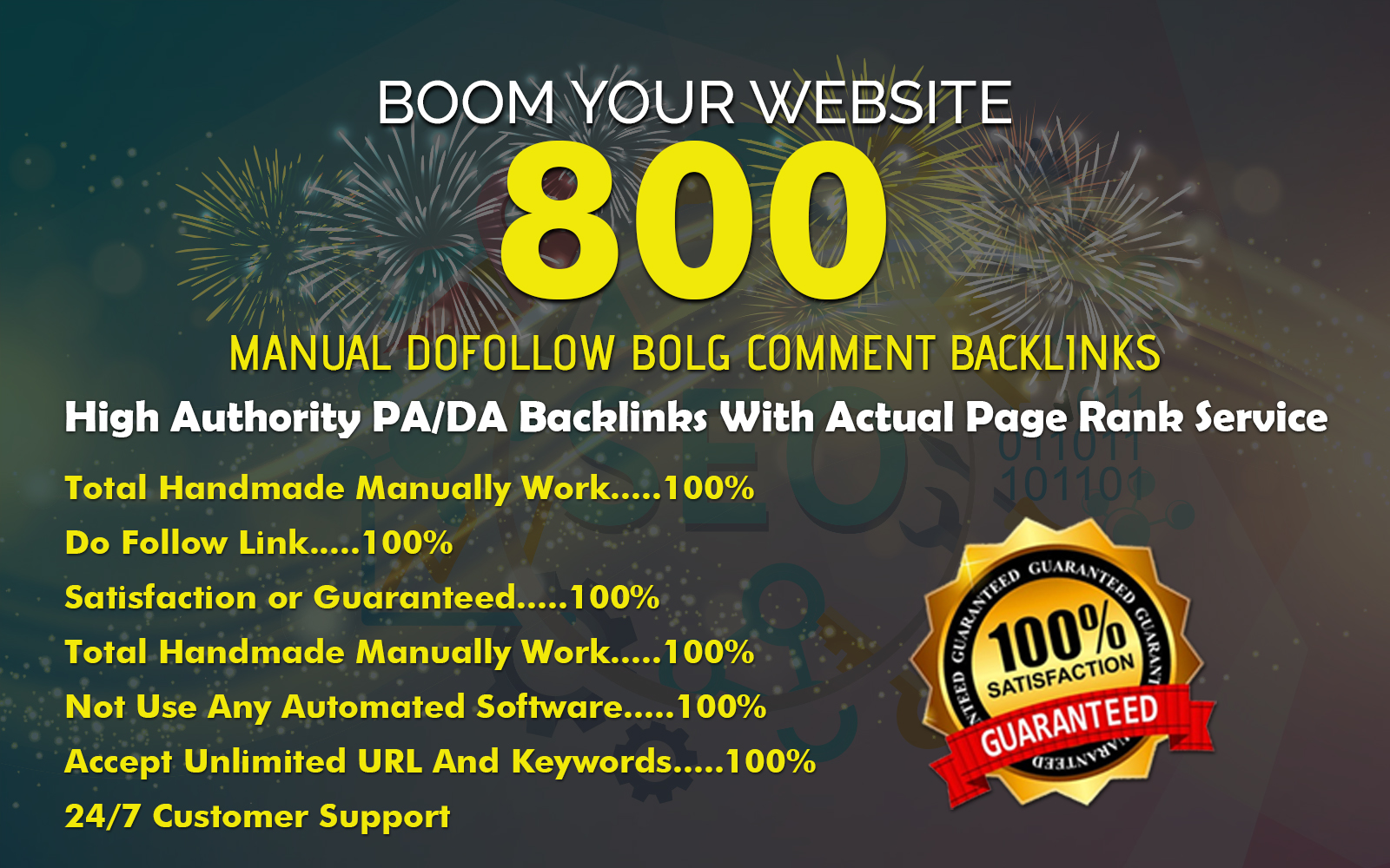 Add create Manually 800 High PA & DA Blog Comment Backlinks