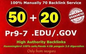 Create 50 Pr9 + 20 Edu - Gov High Pr SEO Authority Backlinks - Fire Your Google Ranking