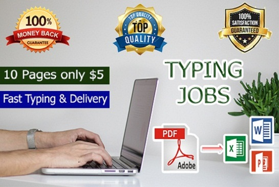 Accurate Data Entry 10 Pages From All Formats