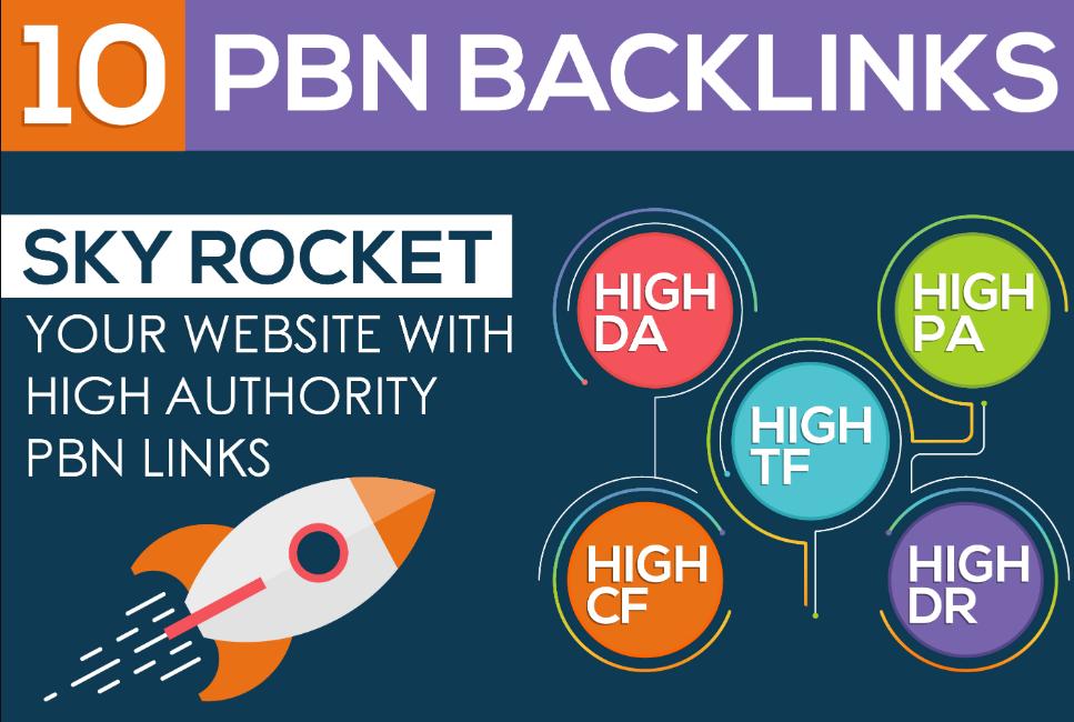 I will do 10 powerful homepage dofollow pbn links