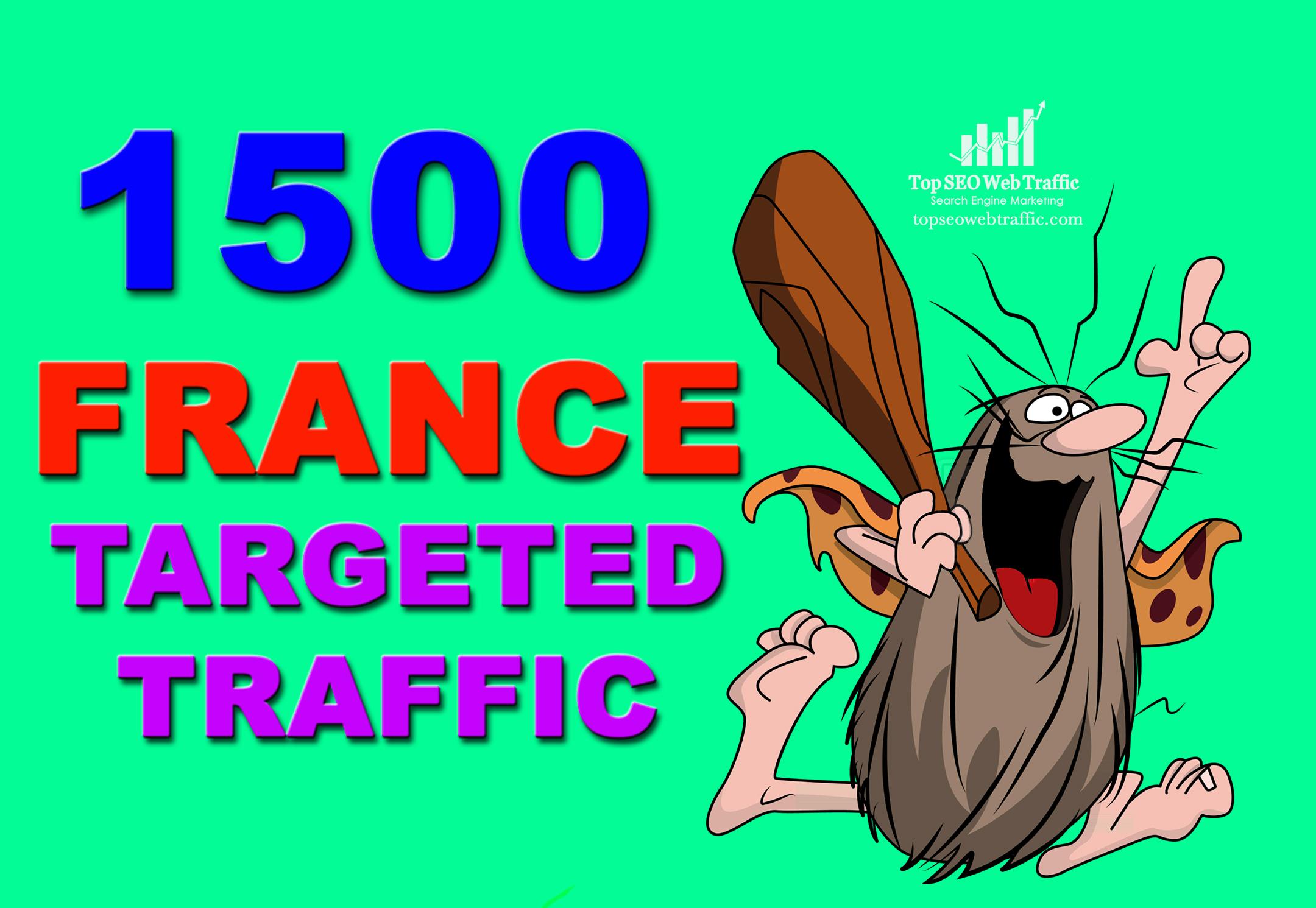 GET 1500 HIGH QUALITY UNIQUE FRANCE WEB TRAFFIC VISIT...