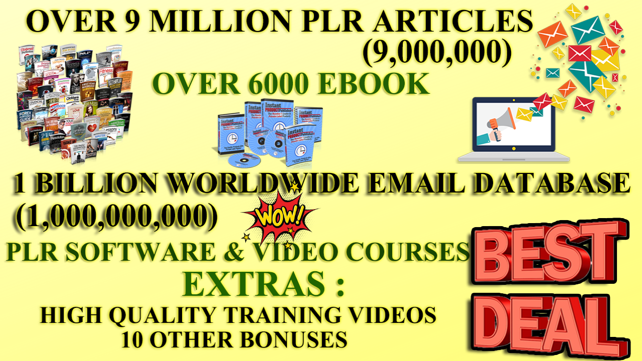 I Will Give You 9 Million Plr Articles 6000 Ebooks, ...