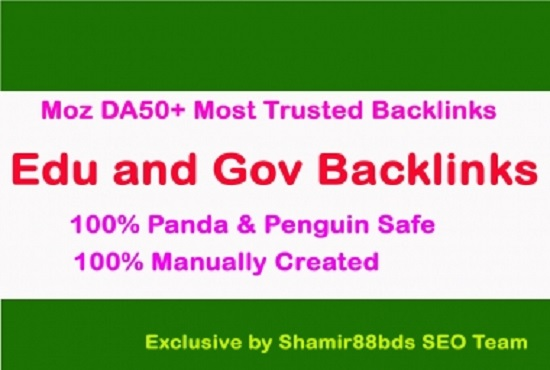 i build 25 edu and gov high quality seo backlink dofollow