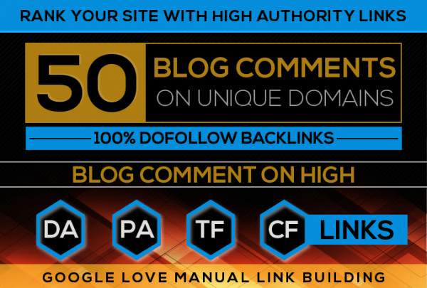 I will Build 50 High Quality Dofollow Blog comments Backlinks