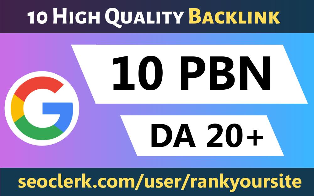 Build 10 Dofollow Homepage PBN Backlinks High Quality Backlinks