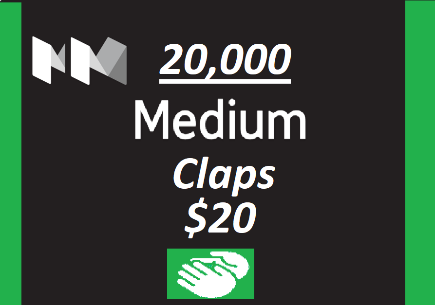 Get you 20,000+ Medium claps to your Article within few hours