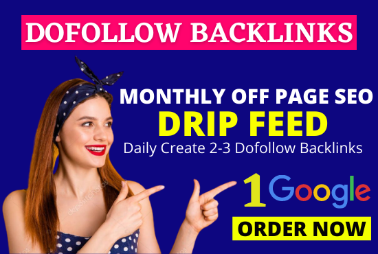 30 days daily fresh white Hat PRO off page SEO Dofollow contextual backlinks