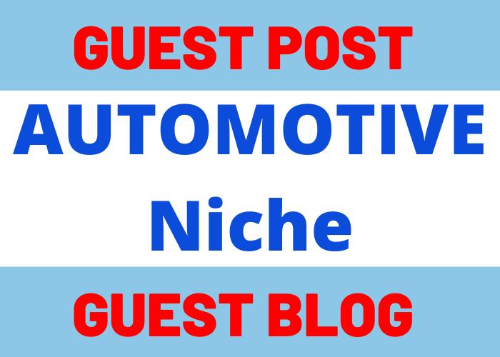 Write & Publish 1 Guest Post Blog Post On Automotive Niche Website blogmagazine. net