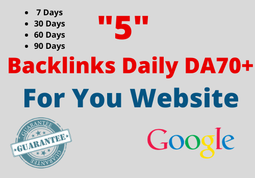 [ Work Daily ] - 5 Backlinks Daily HIGH PR9 Domaine Authority 70+ 1000 Unique Article 7 Days