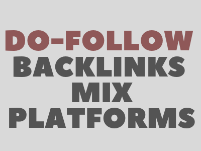 Permanent 100 Do-Follow Backlinks Mix Platforms Profiles Contextual Etc