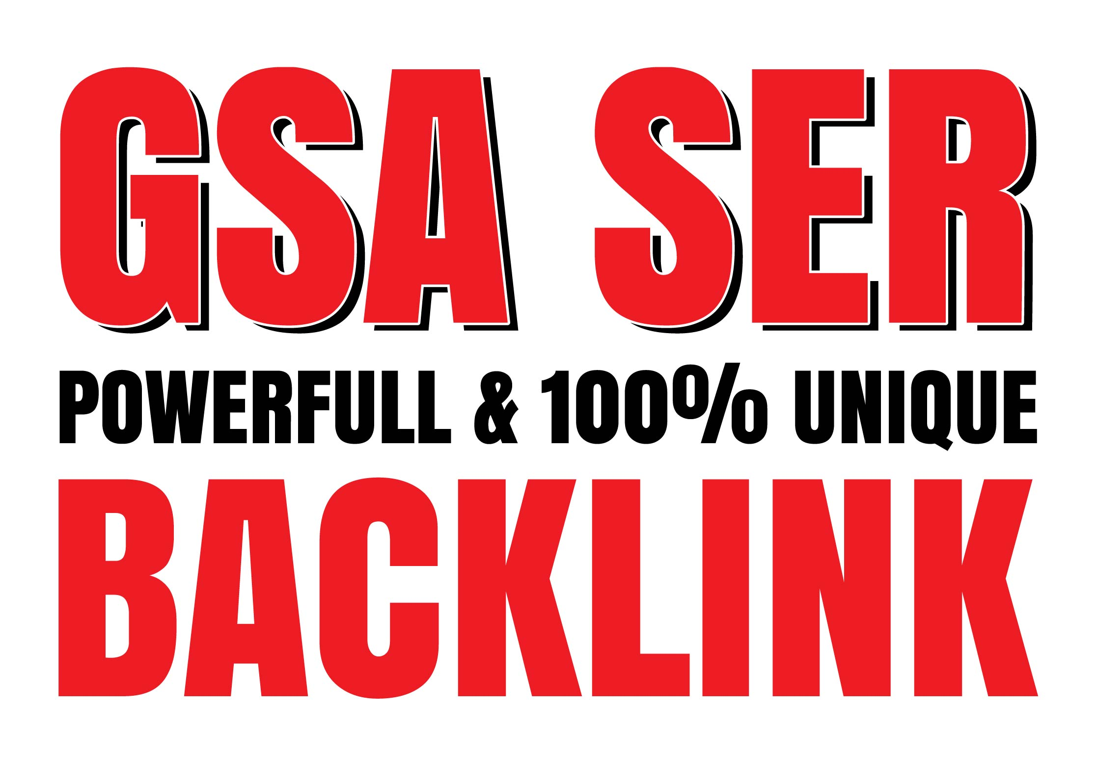 I will Create 1 Million High Quality GSA SER Verified Backlinks