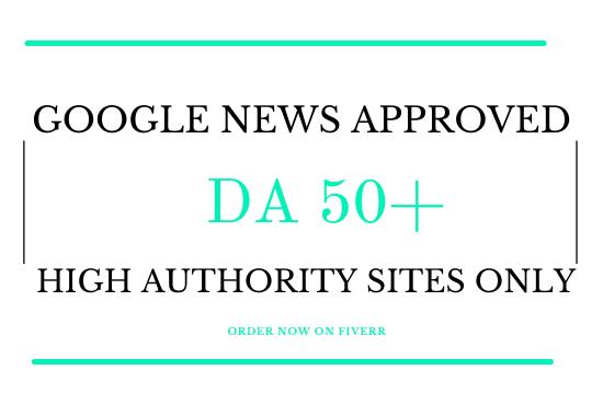 guest post on da 50 google news approved website for seo backlinks