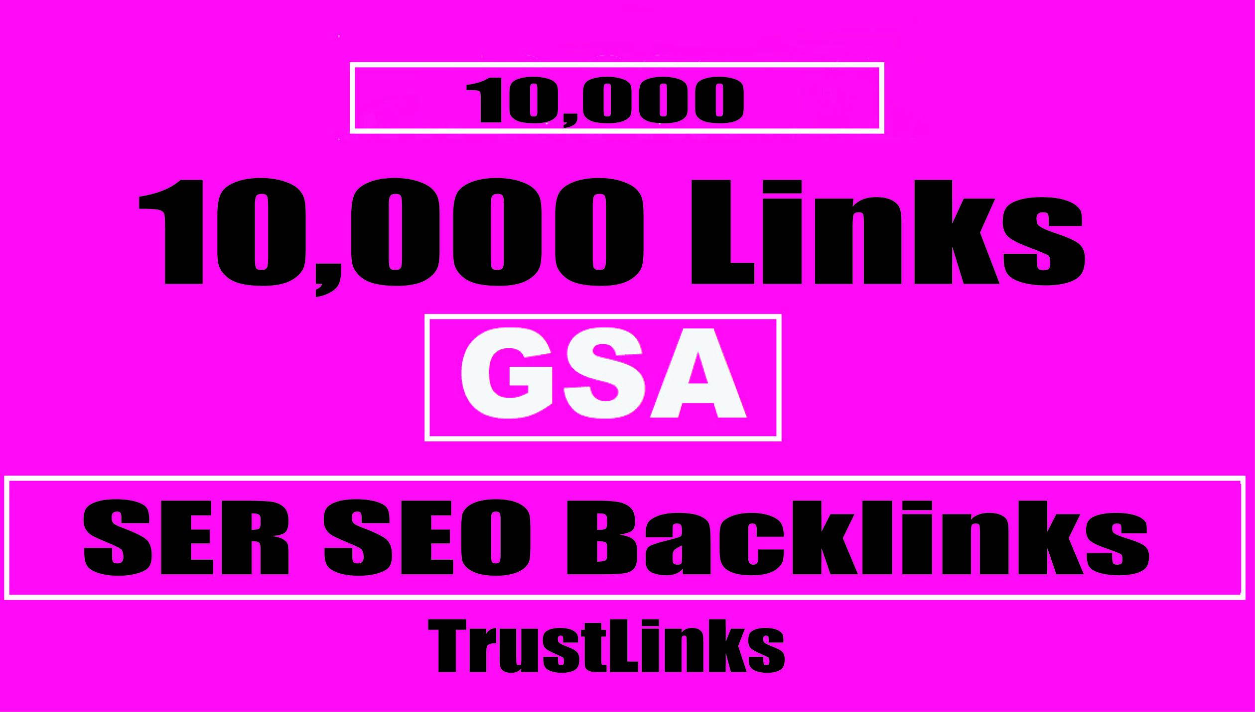 create 10,000+ GSA SER Backlinks for quick ranking on google