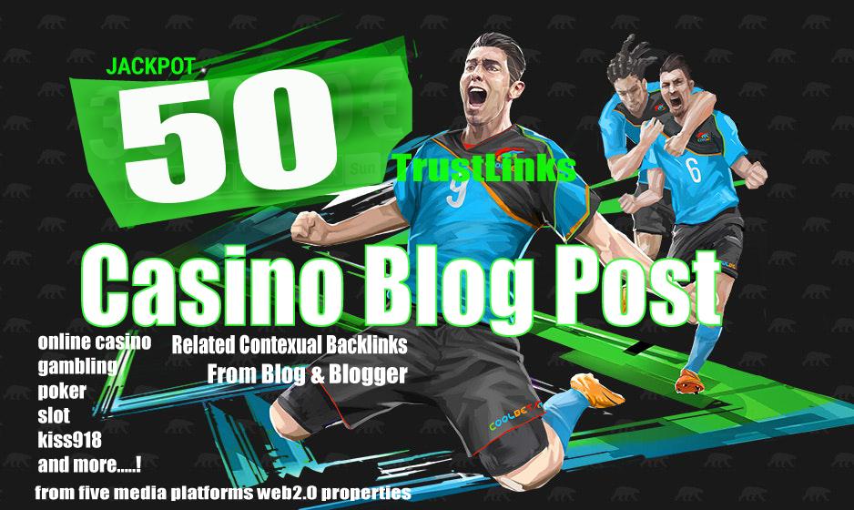 50 Casino Blog post- Casino - Gambling - Poker - Betting - sports sites From Web2.0 Poperties
