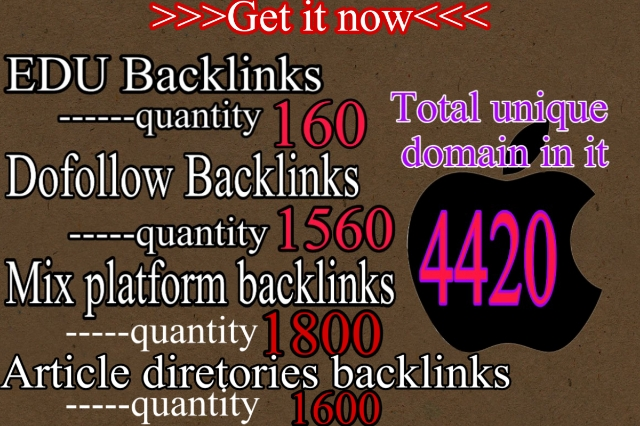 Provide You 5100 plus Dofollow, . EDU,  Article directories and Mix platforms backlinks For ranking