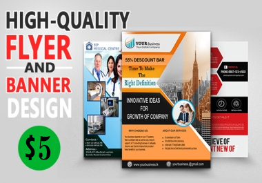 Design A Banner, Flyer, Poster,  Facebook Cover Or Youtube Banner,  Or Ad Header