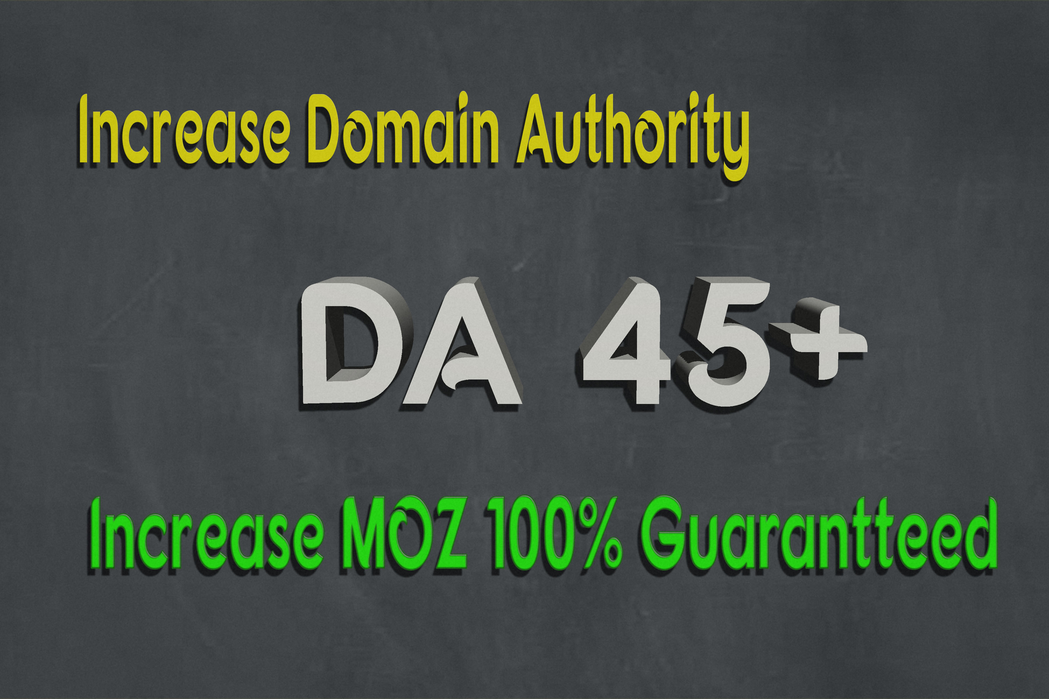 Increase your website MOZ DA45+ Permanent Domain Authority using SEO backlines no spams