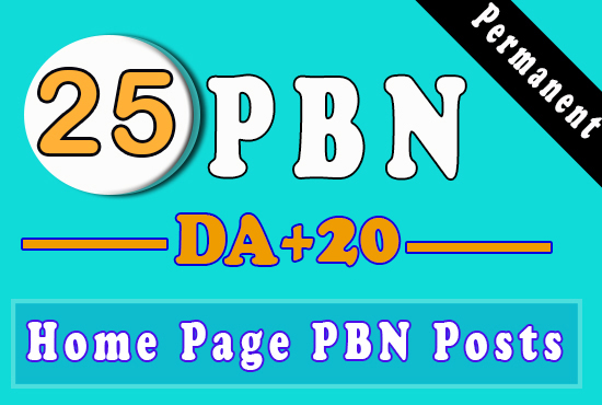 Build 25 High PA DA TF CF HomePage PBN Backlinks - Dofollow Quality Links