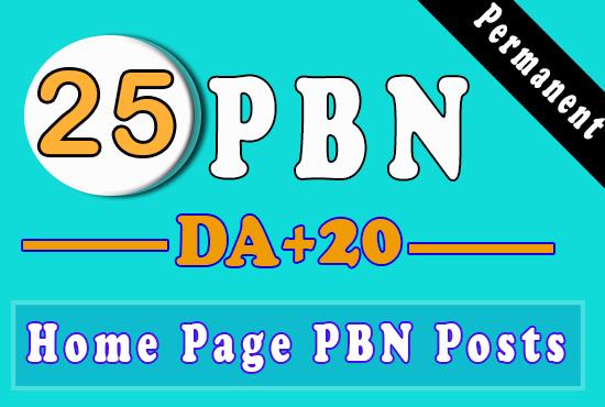 Build 25 High PA DA TF CF HomePage PBN Backlinks - Dofollow Quality Links