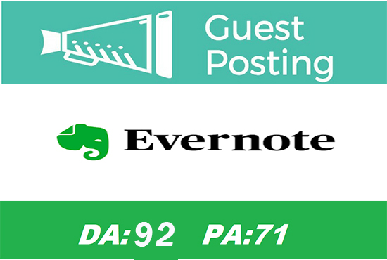 Guest post on Evernote DA 92 for Ranking on Google