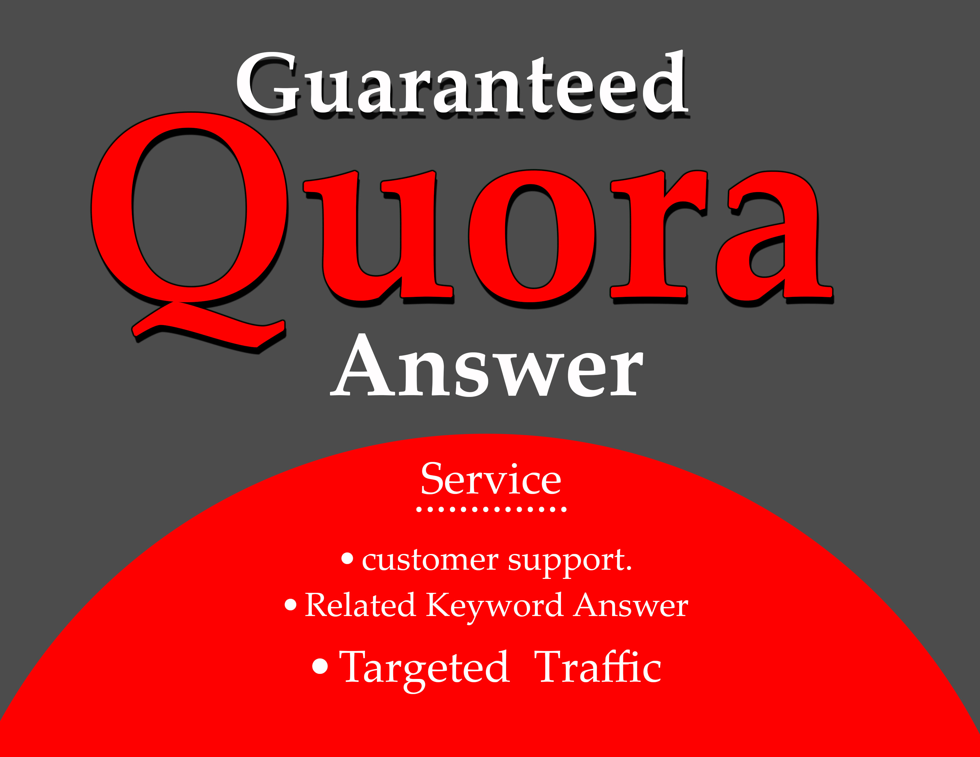 DO 10 HG Quora Answer with promote Your Website/Business.