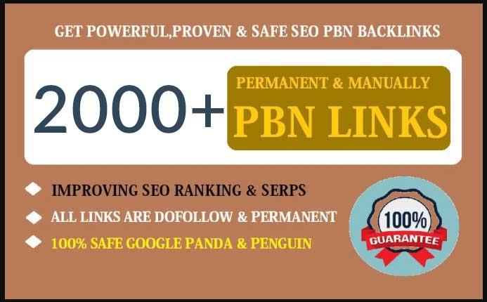 2000+ dofollow pbn SEO backlinks for google ranking