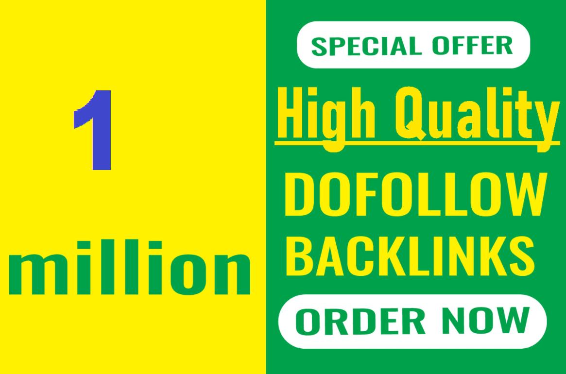 1 Million GSA Ser dofollow SEO backlinks for the faster index on google
