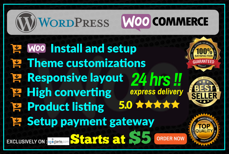 I Create And Develop Ecommerce Website Using Woocomme...