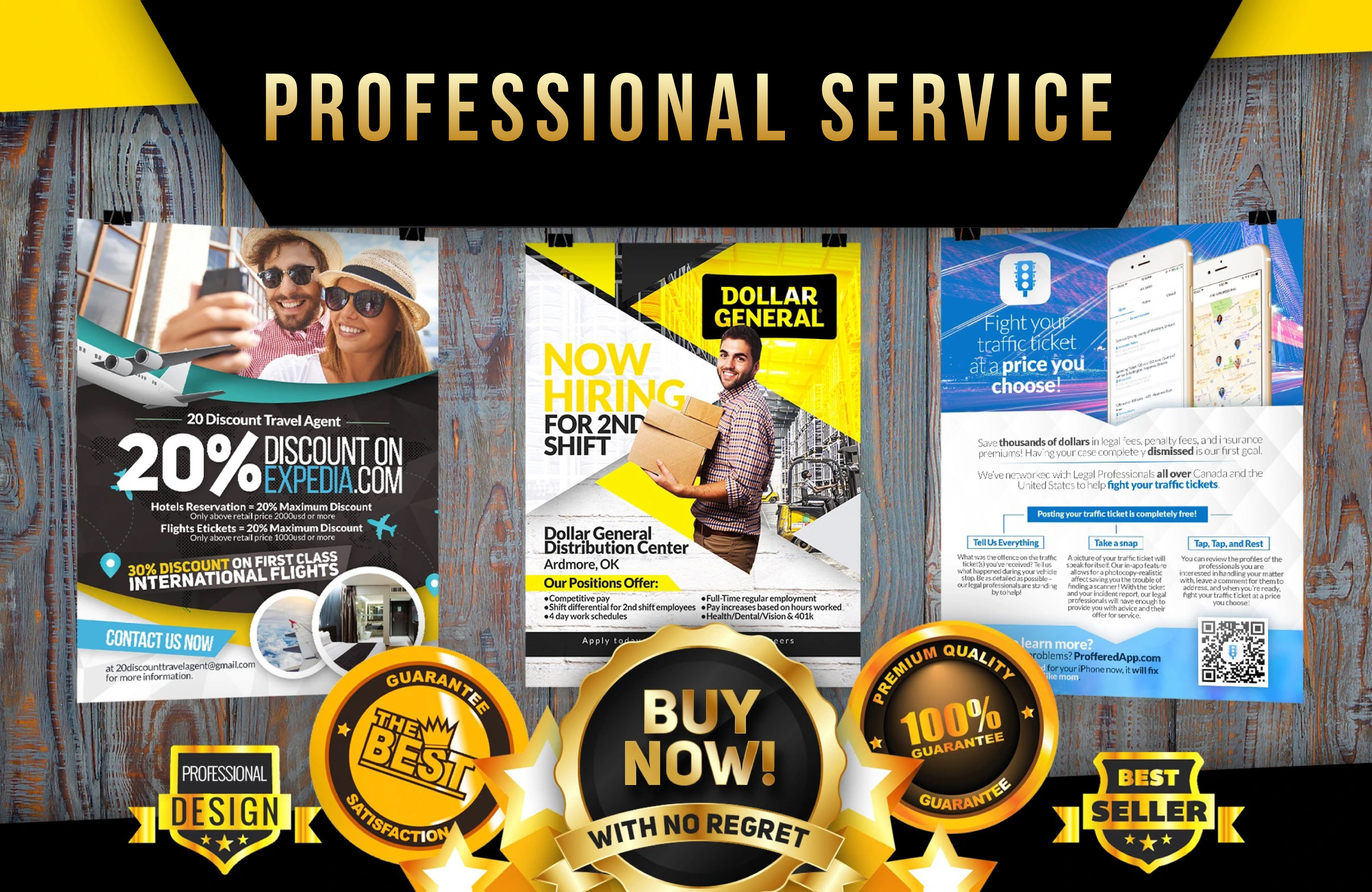 i will create professional flyer/poster/brochure or social media ad design