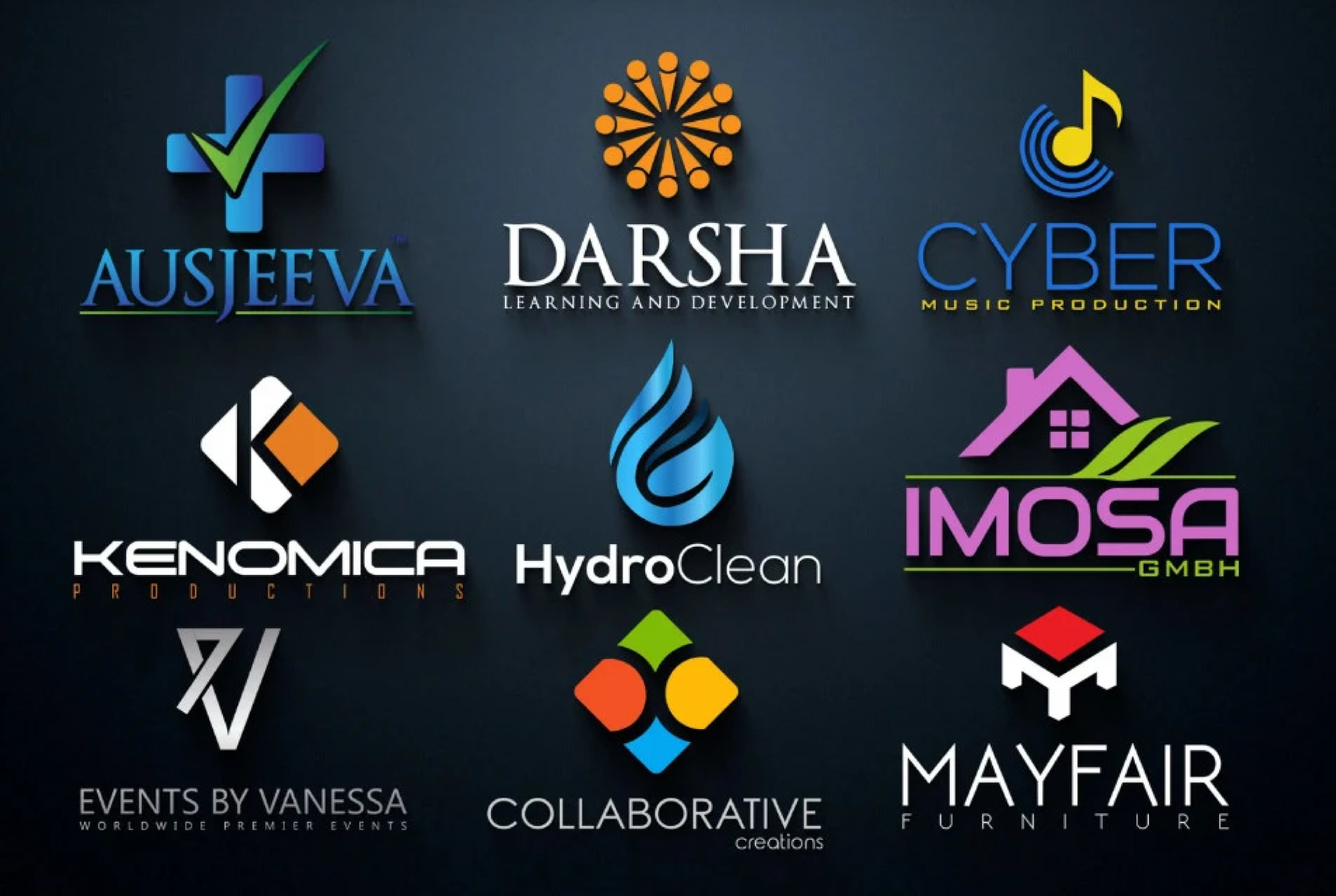 I will design a modern minimalist and elegant business logo