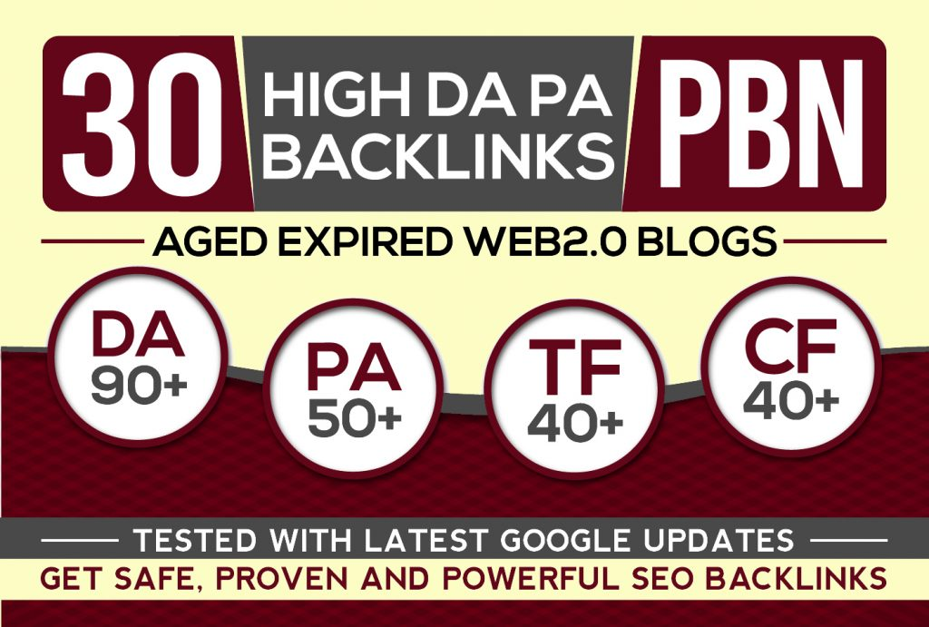 I Will Post 30 Pbn Backlinks,  High Da Pa Aged Web2 Pbn Posts