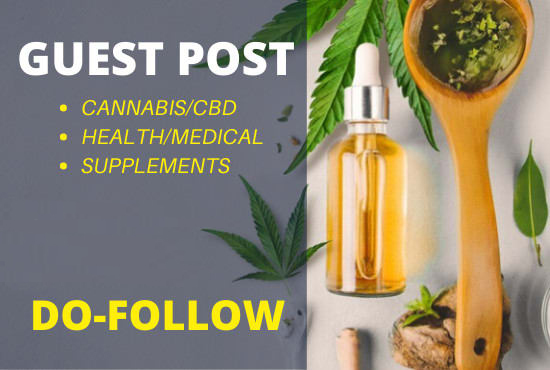 I will do guest post on my CBD health site