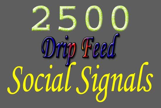 high quality drip feed 2500 top SEO social signals