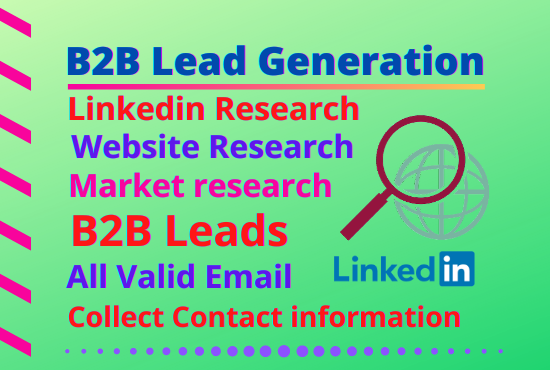 I will do 50 b2b lead generation with email and contact list data entry