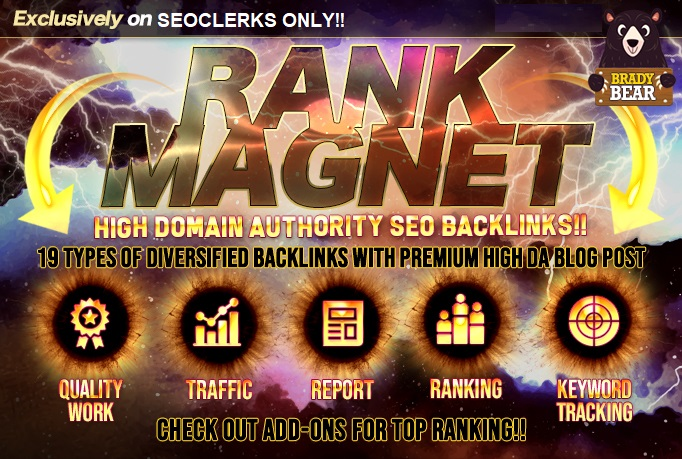 Top Rank Magnet for Google With Safe High Da SEO Backlinks