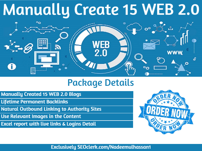 Manually Create 15 High Authority Web 2.0 Blogs