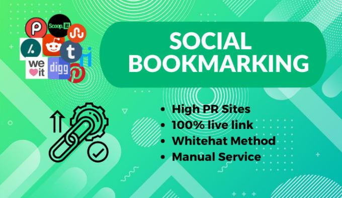 I will make 20 social bookmarking on high DA site