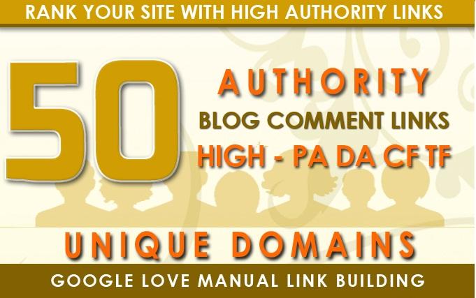 Do 50 Blog Comments On Unique Domains
