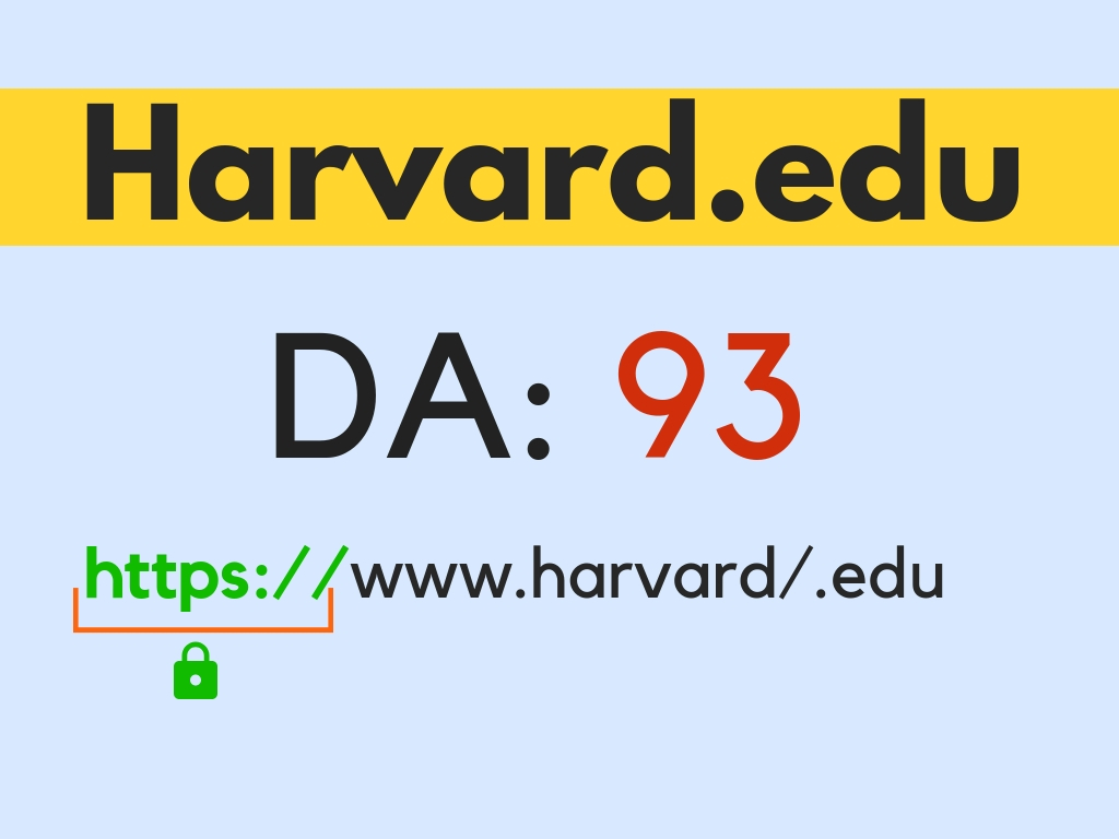Guest post on Harvard University Harvard. edu DA95+