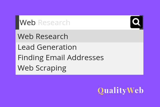 Web Research Or Scrape Any Data in one Hour