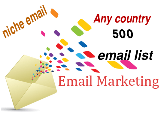 I will targeted niche email lists for email marketing campaigns