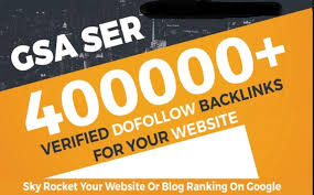 I Provide 400,000 GSA high-quality BACKLINKS