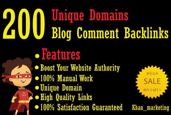 I Will Create 200 unique domains Dofollow Blog Comments SEO Service Backlinks
