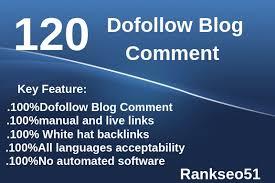 i will make 120 manual blog comment Backlinks Do follow Blog comments DA Pa